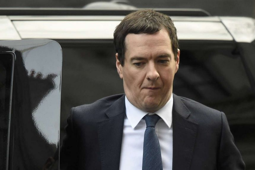 George Osborne arrives for a Cabinet meeting in Downing Street in London on Feb 20, 2016.