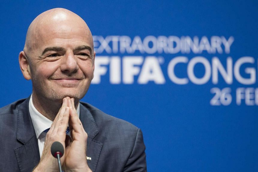 Gianni Infantino of Switzerland, new Fifa President, during a press conference after being elected as new FIFA President at the Extraordinary FIFA Congress 2016 at the Hallenstadion in Zurich, Switzerland, on Feb 26, 2016.