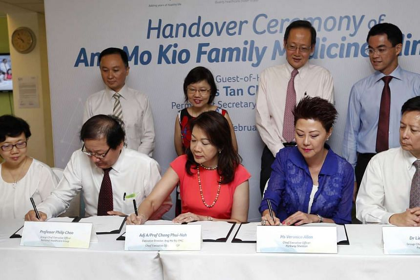Parkway Shenton will take over the management of the Ang Mo Kio Family Medicine Clinic.