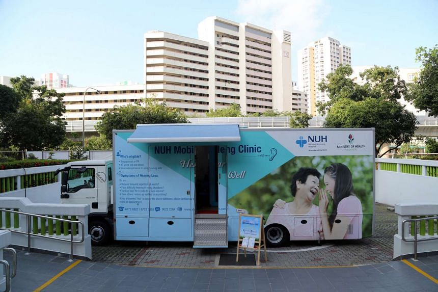 The Mobile Hearing Clinic at Yuhua Community Club.