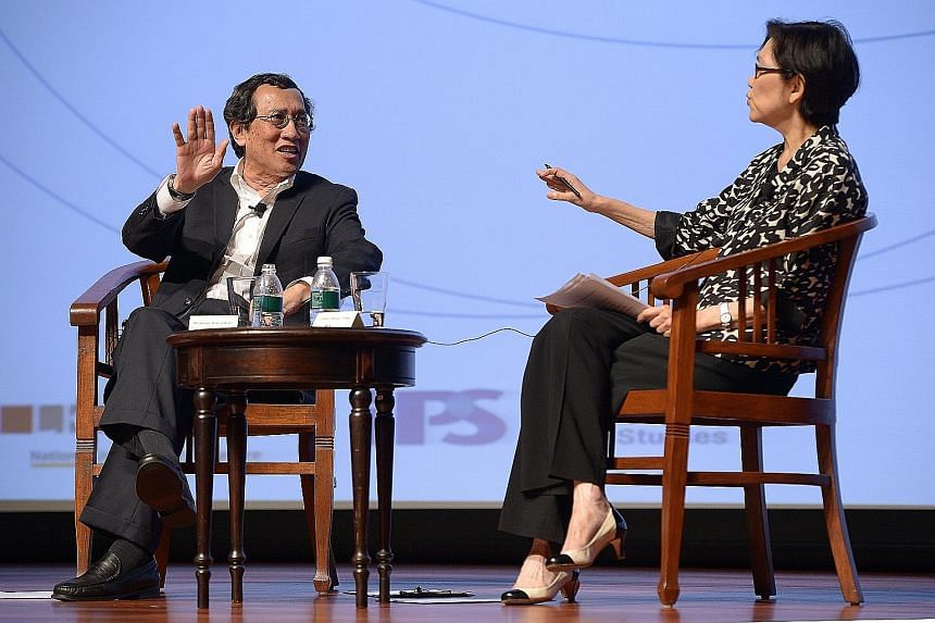 The writer, seen here with Ambassador-at- large Chan Heng Chee at an IPS-Nathan Lecture, says that despite apparent tensions, the US and China largely operate within the same frame of reference in working towards a stable modus vivendi.