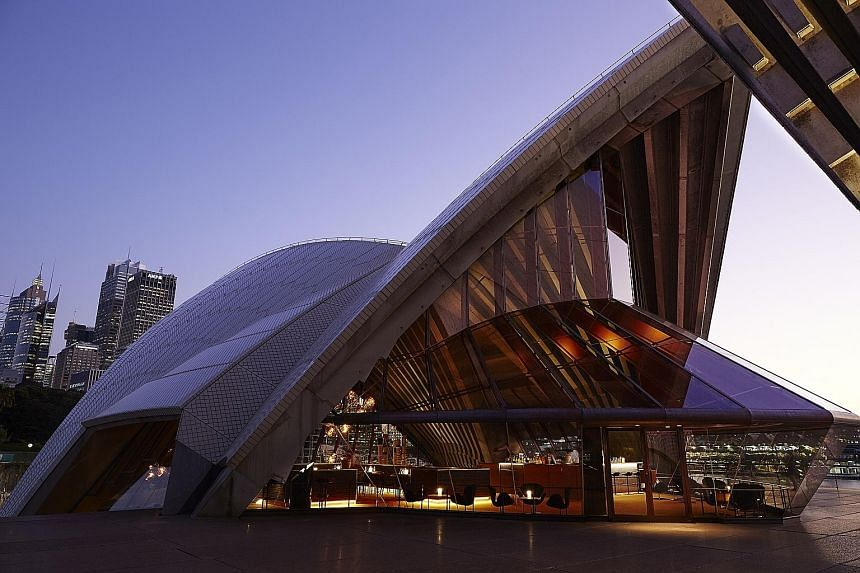 The new Bennelong restaurant (above) at Sydney Opera House (left) has the grandeur and acoustics of a cathedral.