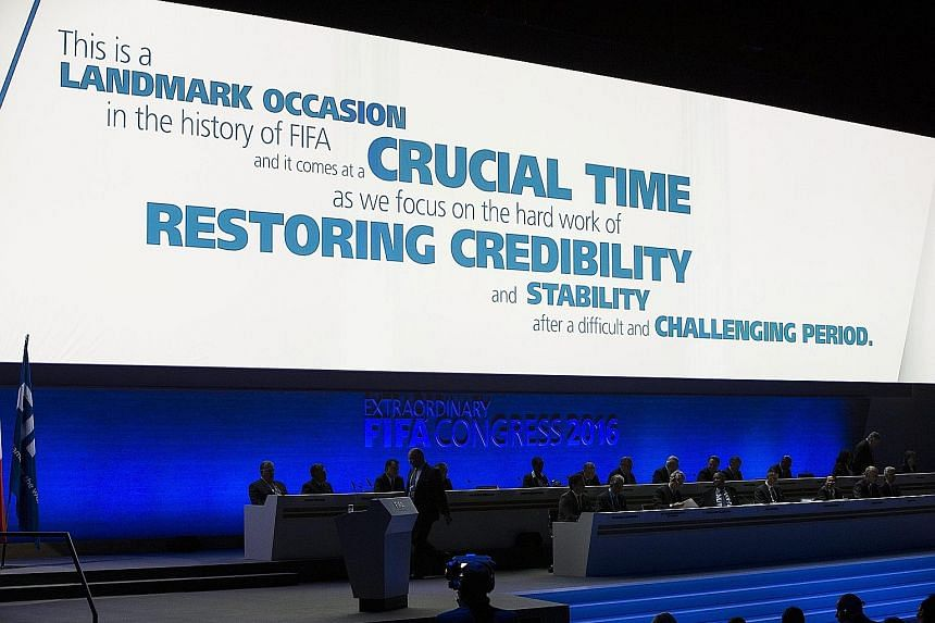 The sentiments of the slogan displayed on the main screen dominating the extraordinary Fifa congress in Zurich yesterday were echoed by the majority of delegates, with 179 votes to 22 in favour of a package of comprehensive reforms.