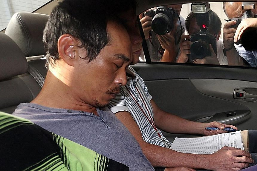 Khor Tzoong Meng, 50, is accused of killing Mr Ang Kim Keat, 37, at the void deck of a block of flats in Hougang. Loh Suan Lit, 47, is accused of killing Mr Tan Poh Huat, 53, at Chin Long Kong Temple in Teck Whye Lane on Feb 14.