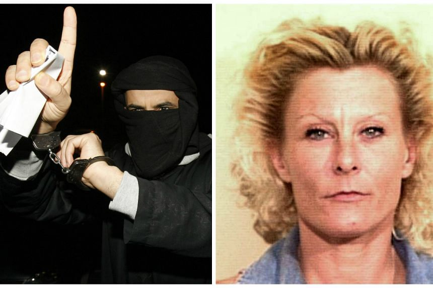 "Ali Charaf Damache in a 2010 file photo (left) and  ""Jihad Jane"", aka Colleen LaRose (right)."