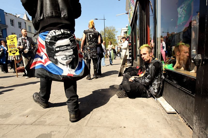 Non-conformist punks were a common sight in London from the 1970s.