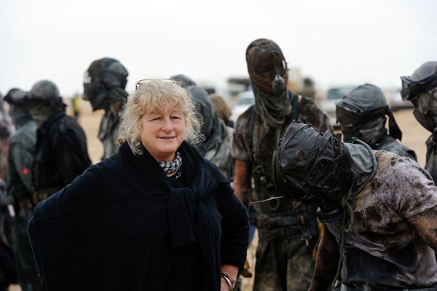 Costume designer Jenny Beavan on the set of Mad Max: Fury Road.
