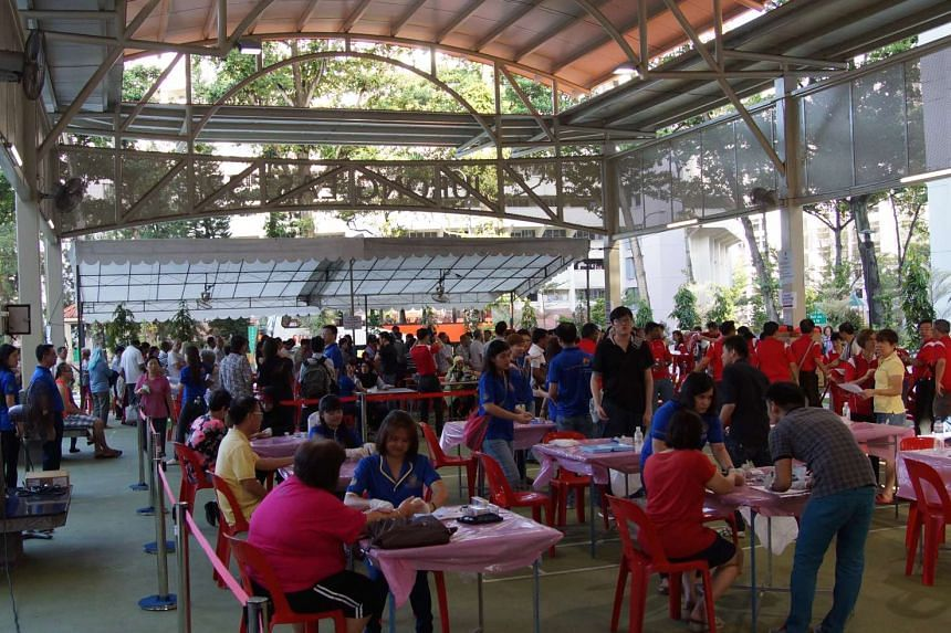The crowd at the Health Carnival in Jurong on Feb 28, 2016.