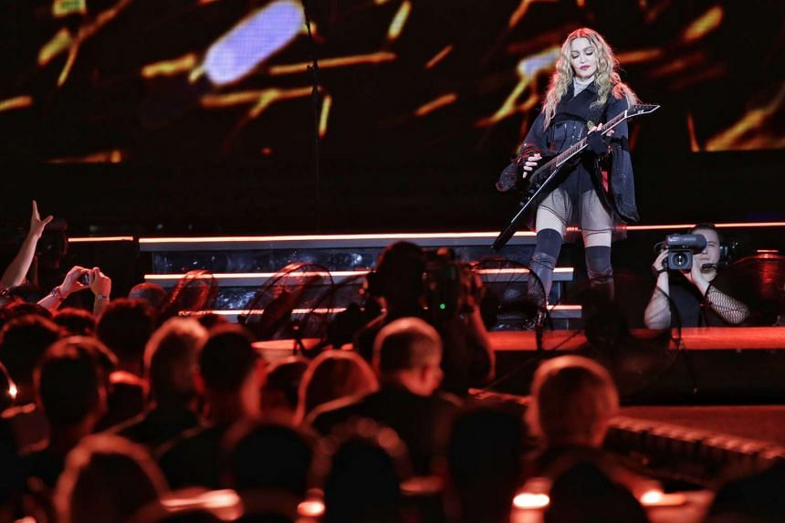 Pop superstar Madonna performs in her first ever concert in Singapore on Feb 28, 2016, as part of her Rebel Heart Tour.
