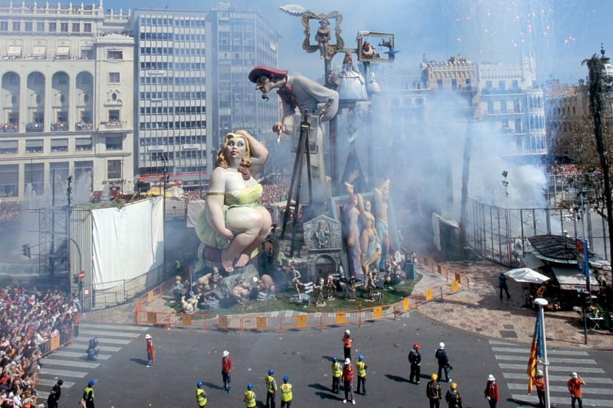 Valencians set towering wooden and papier-mache sculptures on fire each year to celebrate spring.