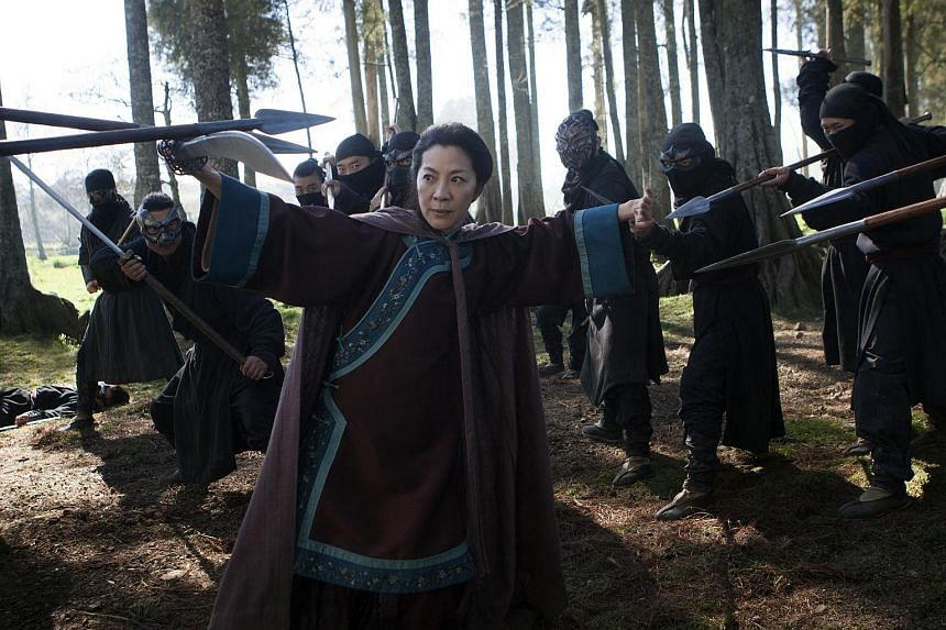 Movie still of actress Michelle Yeoh in Crouching Tiger Hidden Dragon: Sword Of Destiny.