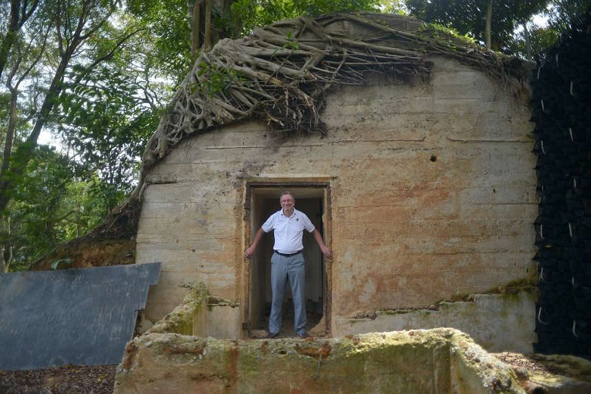 Gardens' director Dr Nigel Taylor pictured here with a recently discovered World War II air-raid shelter. It features in the e-book's chapter on the Gardens' iconic structures.