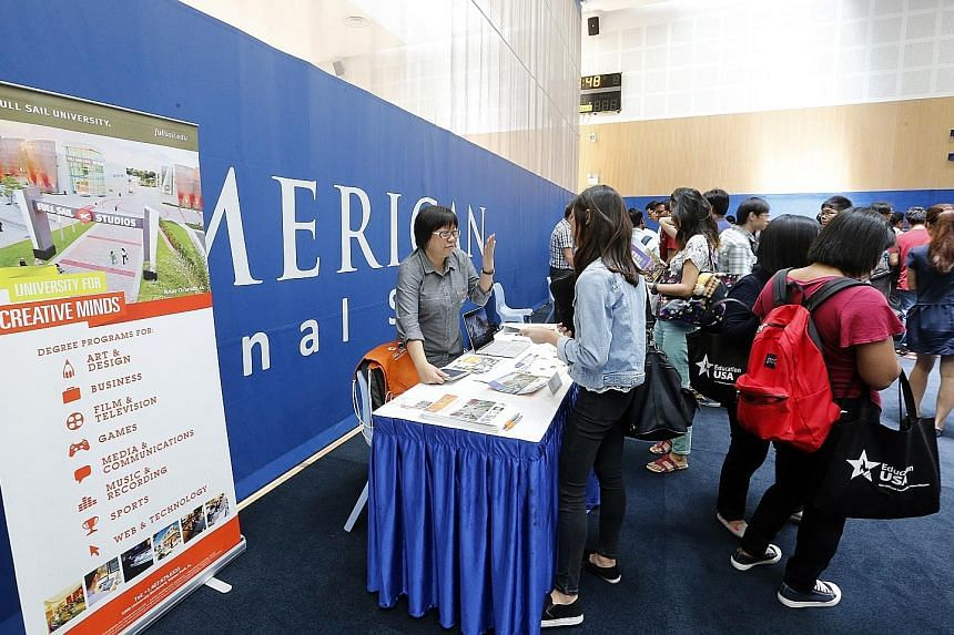 Some of the Singaporeans interviewed at the EducationUSA Fair last weekend said a US education is well regarded by employers.