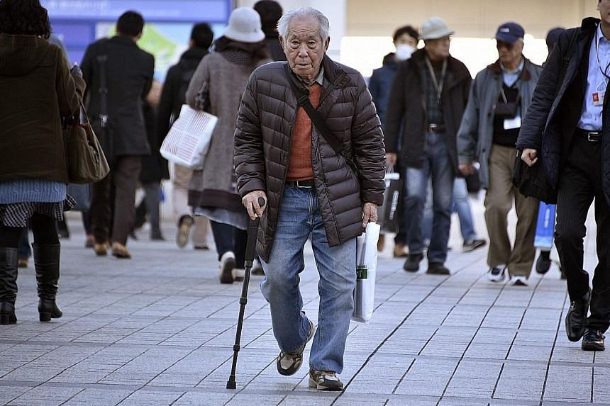 People over 65 now make up a quarter of Japan's society, putting stress on the nation's young workers.