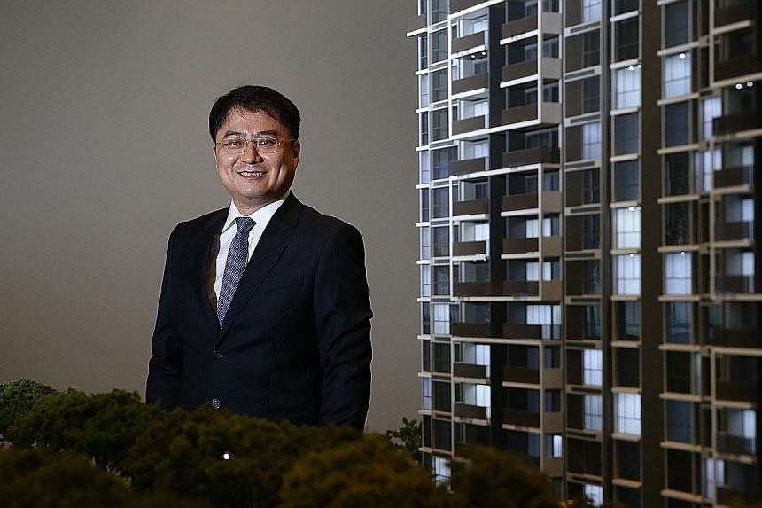 """Mr Li says the Singapore property market """"may be quiet now, but it can't stay quiet forever""""."""