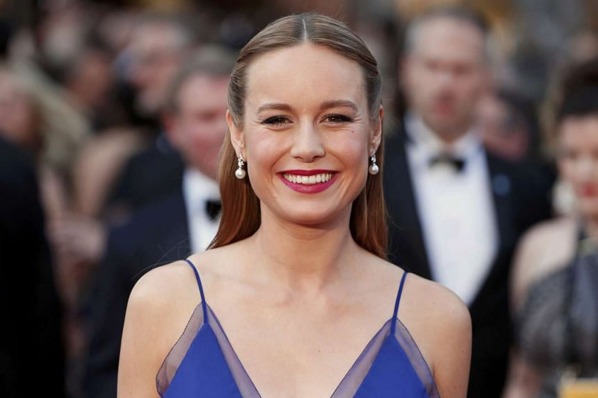 Brie Larson arriving at the 88th Academy Awards on Feb 28, 2016.