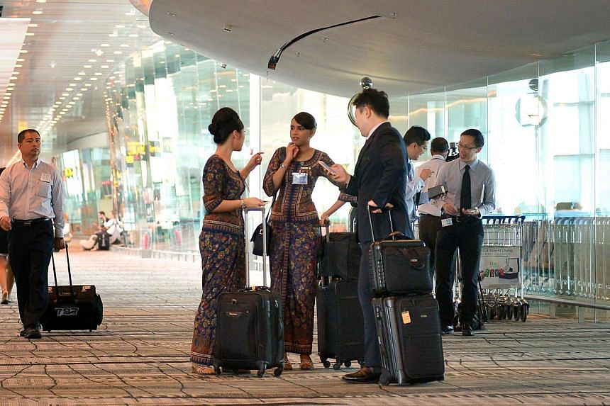 Singapore Airlines is ramping up cabin crew at Changi Airport Terminal 3.