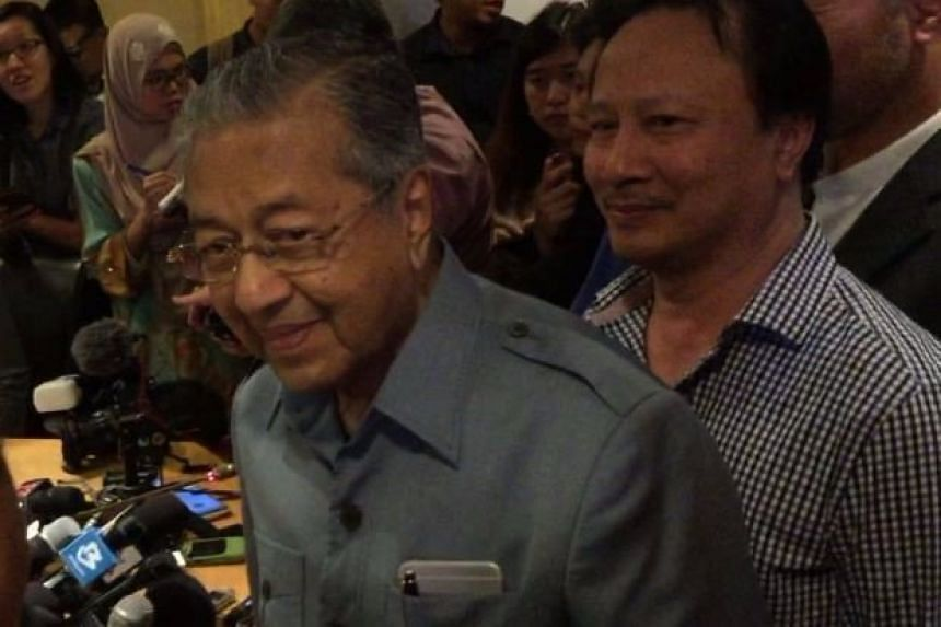 """Dr Mahathir Mohamad said Umno was no longer what it  used to be and is now """"Najib's party""""."""