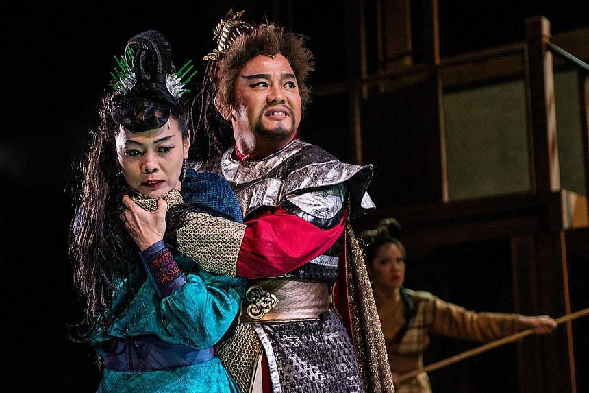 Li Xie and Johnny Ng in The Theatre Practice production, Legends Of The Southern Arch.