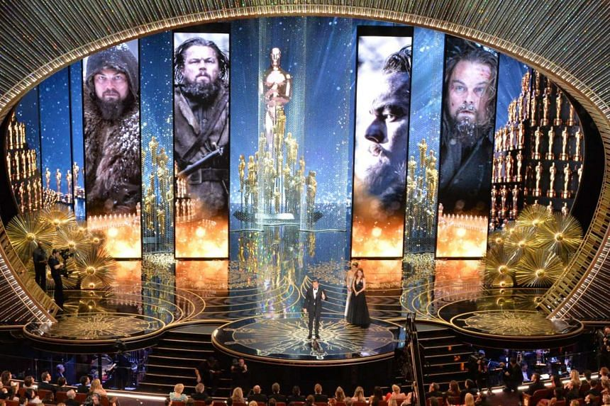 Actor Leonardo DiCaprio accepts the award for Best Actor in,The Revenant on stage at the 88th Oscars on Feb 28, 2016.