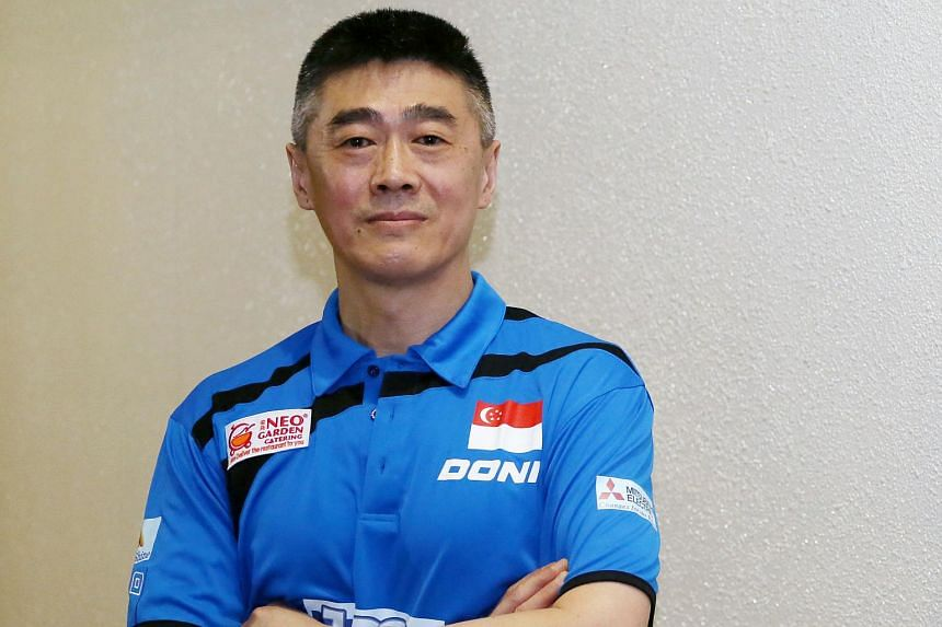 Singapore's women's table tennis coach, Chen Zhibin.