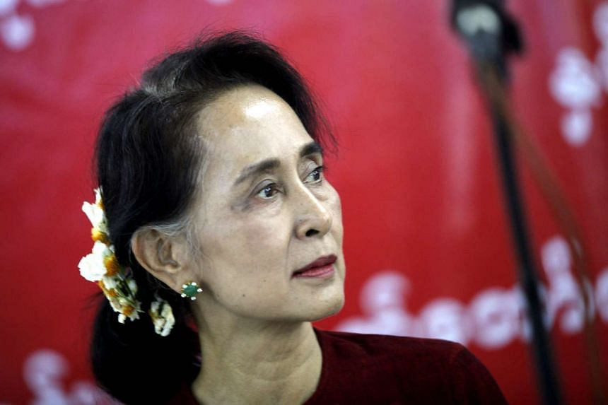 Aung San Suu Kyi at the Municipal Guest House in Naypyitaw, Myanmar, on Feb 29, 2016.
