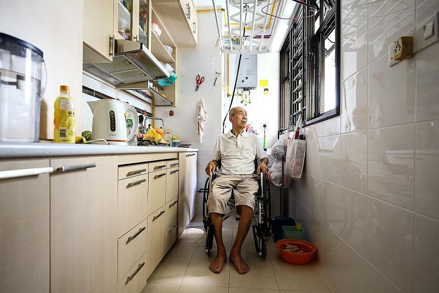 Mr Lian has a maid who sees to all his daily needs such as bathing and eating. Since last August, he has been receiving $100 a month from the Pioneer Generation Disability Assistance Scheme.