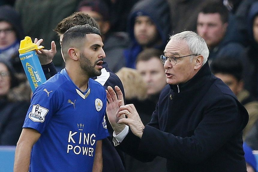 Leicester City manager Claudio Ranieri giving instructions to winger Riyad Mahrez during their win over Norwich. The Italian is prepared to throw caution to the wind in order to find tactical solutions for victory, as his side sit two points clear of