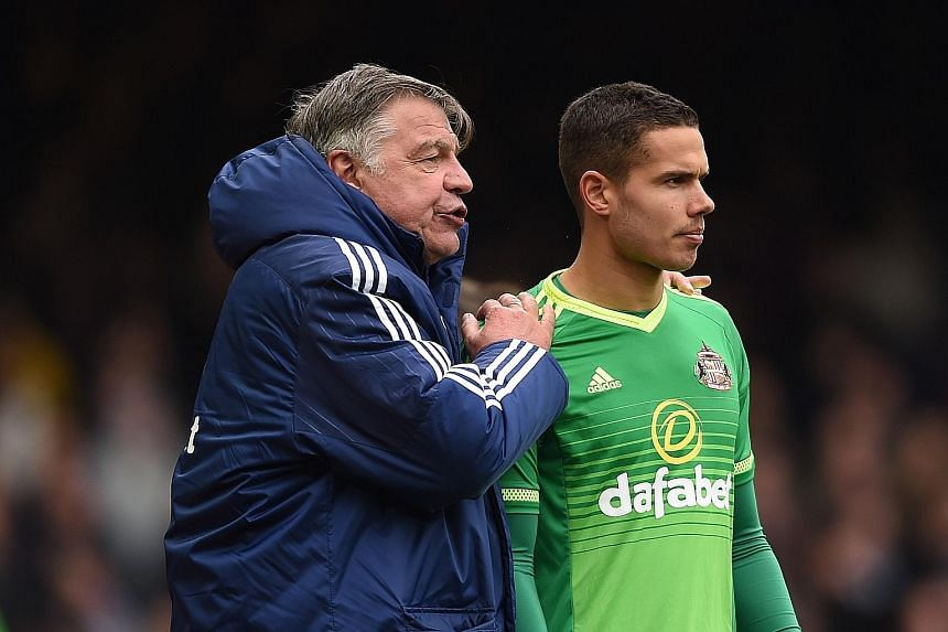 Sunderland manager Sam Allardyce (left, with Jack Rodwell) says his team will be under pressure to deliver five victories to avoid relegation.