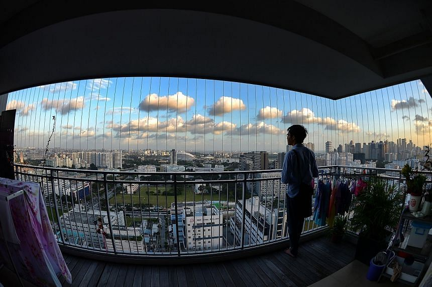 The view from a 39th-floor unit at City View. A unit on the 40th floor - the top floor - sold on Saturday for over $1 million. The agent for the buyers said her clients liked the view from the flat and its spacious layout.