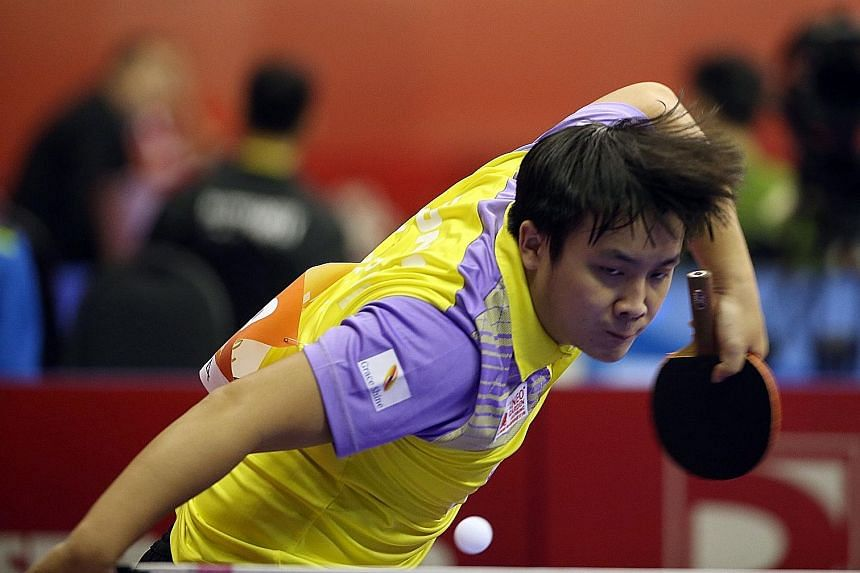 Singapore's Pang Xue Jie more than ably deputised for the injured Gao Ning against world No. 14 Koki Niwa, upsetting the Japanese in five games. His team-mates could not repeat his feat, losing the next three matches.