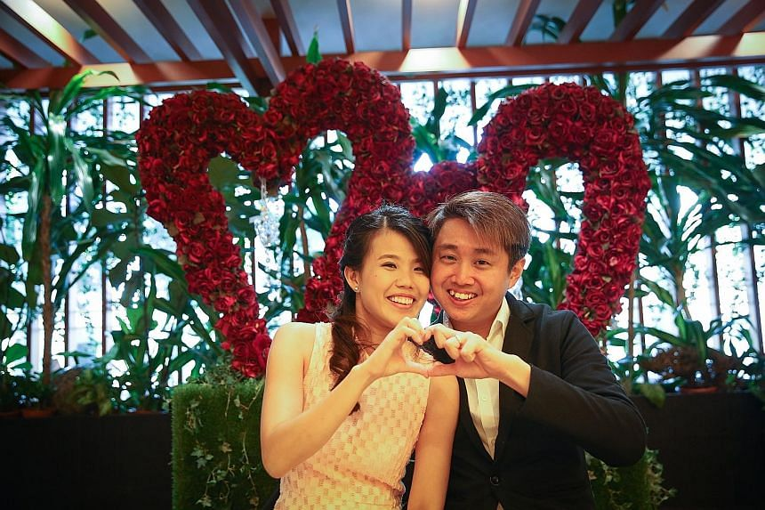 Technical research coordinator Tan Qing Lin and nurse Valerie Sim decided three months ago that they would register their marriage on Feb 29 as it occurs only once every four years.