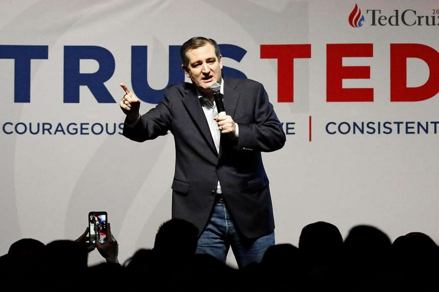 Ted Cruz speaks at a rally at Galley's Dallas the day before Super Tuesday on February 29, 2016.