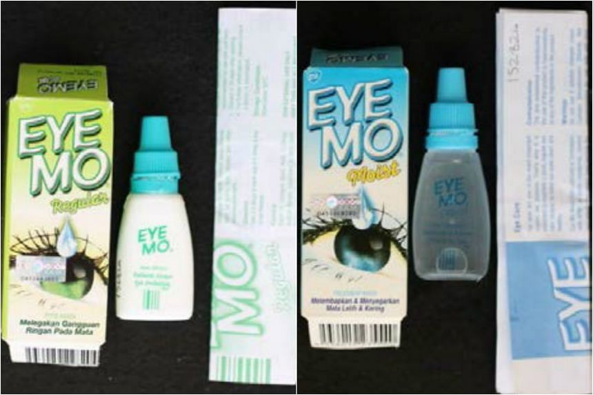 The counterfeit Eye Mo products.