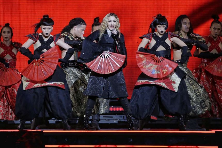 The Queen of Pop had several costume changes, including a samurai-inspired ensemble.