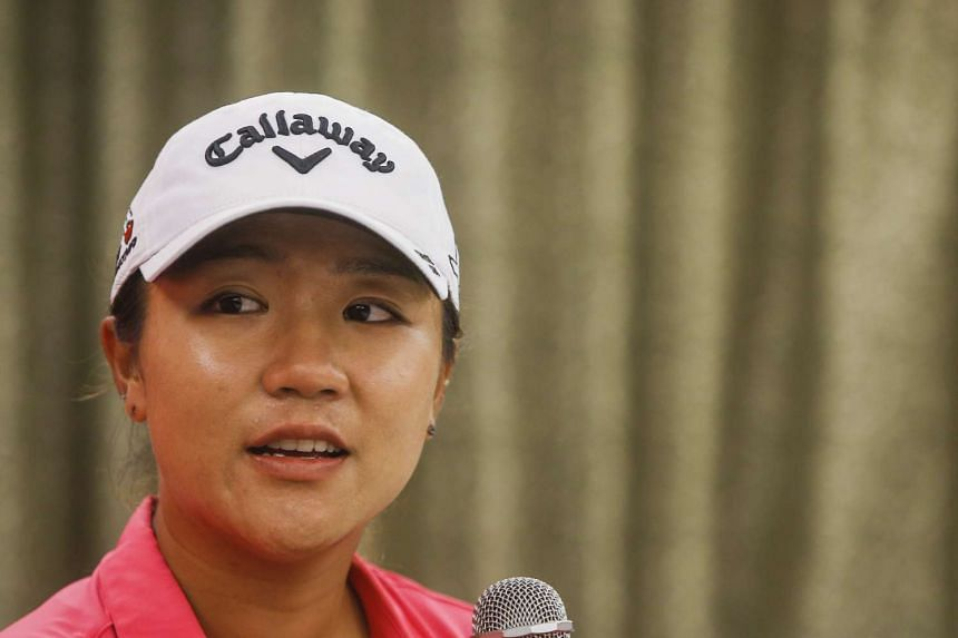 New Zealand golfer Lydia Ko speaking during a press conference at the Sentosa Golf Club on March 2, 2016.