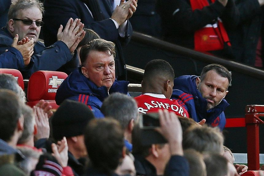 Marcus Rashford returning to the United bench after being substituted in the 3-2 win over Arsenal, where he scored the first two goals.