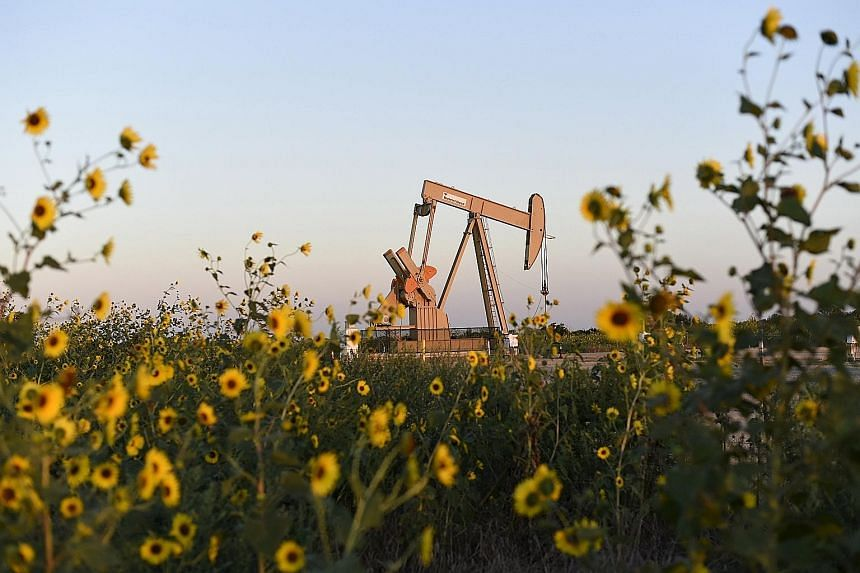 An oil jack in Oklahoma in the United States. Some analysts have turned bullish about oil, citing news that shale oil producers in the United States, faced with earnings losses, have started cutting back their output. Others say there will likely be