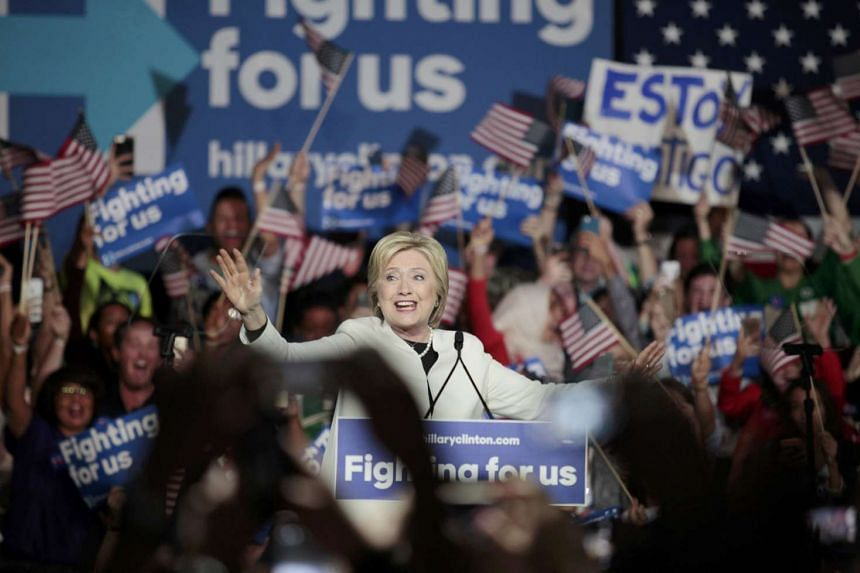 US presidential candidate Hillary Clinton speaks about the results of the Super Tuesday primaries at a campaign rally in Miami, Florida on March 1.