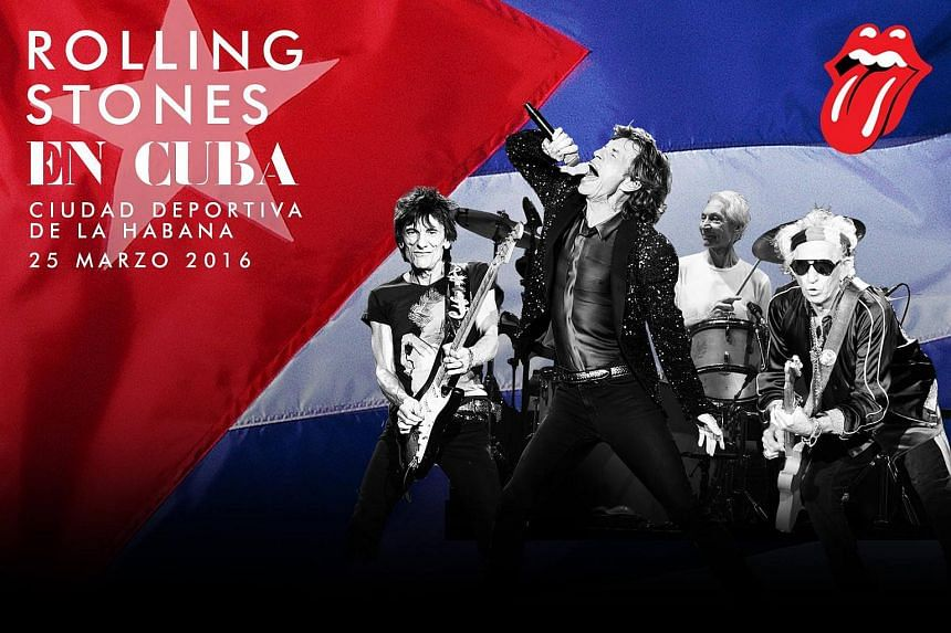 The Rolling Stones announced that they will perform a free outdoor concert in Havana on March 25.