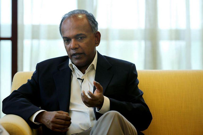 Home Affairs Minister K. Shanmugam.