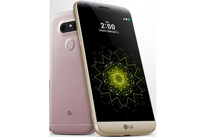 "LG's latest smartphone, the G5 (above) has many ""friends""."