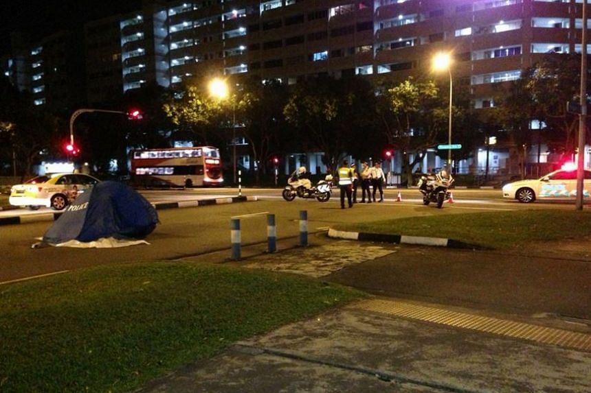 The accident took place along Hougang Street 52, towards Hougang Street 51, early Wednesday morning.