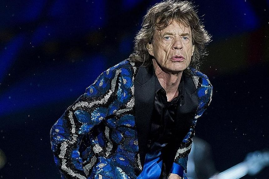 The Rolling Stones' singer Mick Jagger (above) during a concert in Sao Paulo, Brazil, last month.