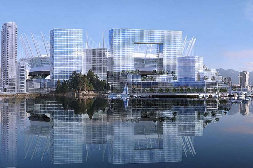 Artist's impressions of what the redeveloped Plaza of Nations site would look like. The proposed development is now at the centre of a legal case some have dubbed the clash of titans.