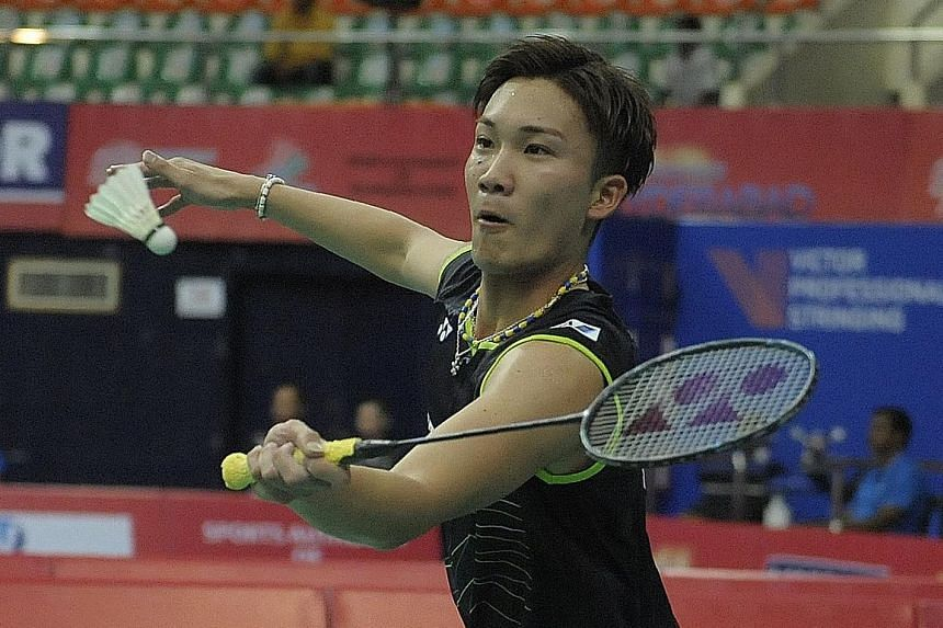Japan's Kento Momota will be looking to defend his title at the OUE Singapore Open on April 12-17.