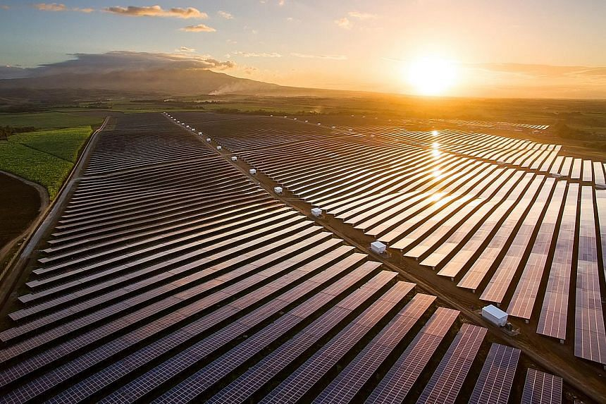 The solar project in the Philippines (above) is South-east Asia's largest solar power plant. It is slated to open today.