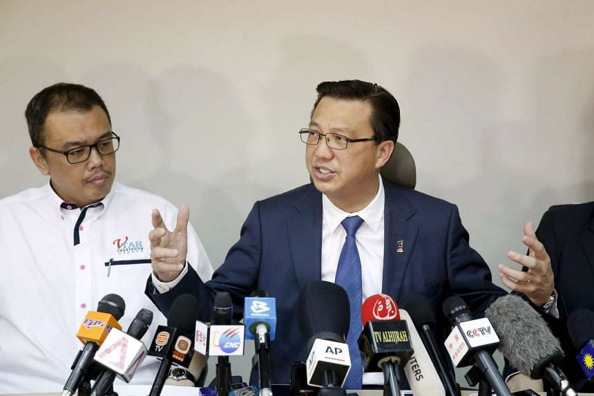 Malaysian Transport Minister Liow Tiong Lai speaking at a news conference about debris found on a beach in Mozambique, in Kuala Lumpur on March 3, 2016.