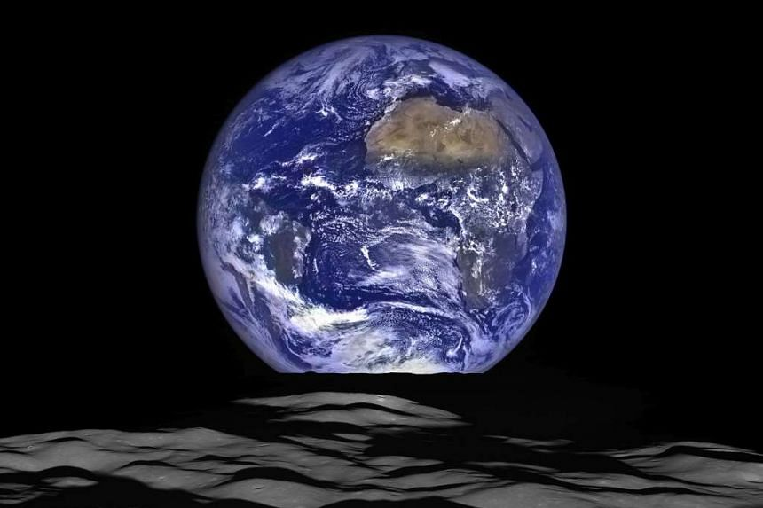 The Earth pictured by Nasa's Lunar Reconnaissance Orbiter.