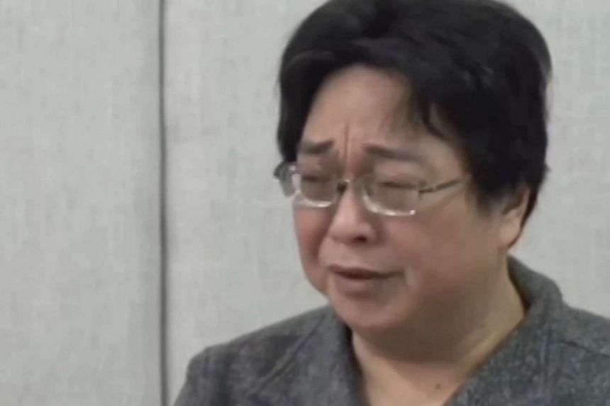 Bookseller Gui Minhai, a Swedish national, weeping during an interview on Jan 17 on Chinese state broadcaster CCTV.